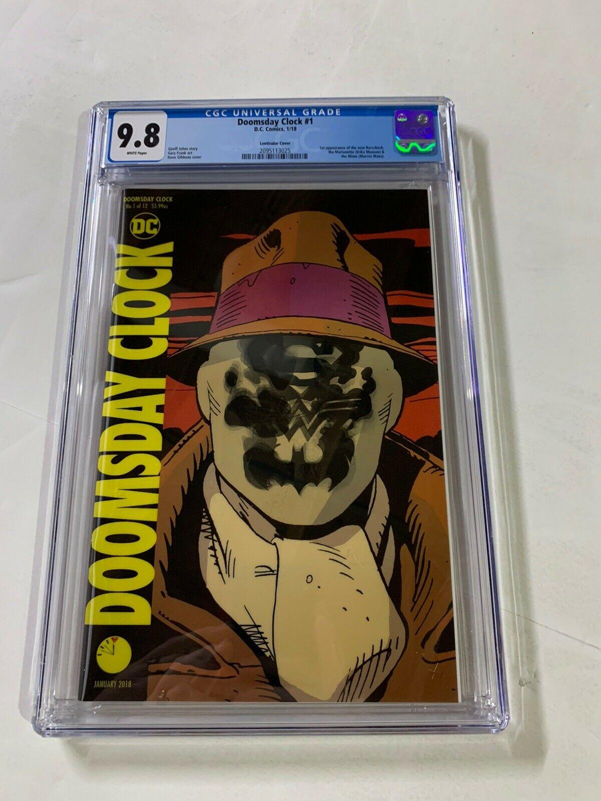 Doomsday Clock 1 Cgc 9 8 Lenticular Variant Cover Dc Comics Hipcomic