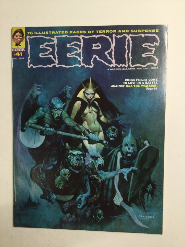 Eerie 41 Magazine Fine Fn 6.0 Water Damage Warren Magazine