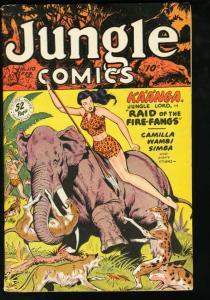 JUNGLE COMICS #110 FICTION HOUSE-BAKER ART-1949 SPICY VG