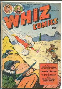 WHIZ #103 1948-FAWCETT-CAPT MARVEL-GOLDEN ARROW-LANCE O'CASEY-IBIS-vg minus