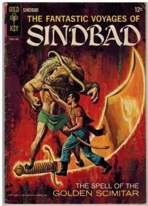 FANTASTIC VOYAGES OF SINBAD 2 GD+ 1967 COMICS BOOK