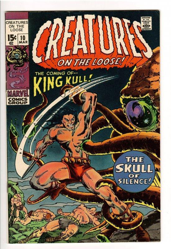 CREATURES ON THE LOOSE #10 1st KULL(KING KULL) KILLER VF+ 8.5
