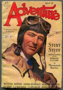 Adventure Pulp April 15 1931- Stunt Stuff- WC Tuttle- VG+