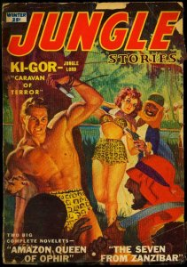 Jungle Stories Pulp Winter 1952- Ki-Gor- George Gross cover- G