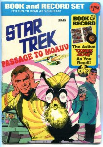 STAR TREK Book / Record Set, Passage to Moauv, VF+, New / Sealed,Kirk,Spock,1975