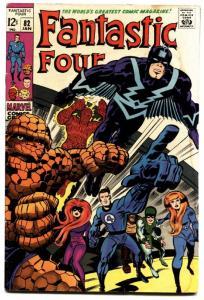 FANTASTIC FOUR #82-Black Bolt Inhumans cover-MARVEL 12 CENT VG-