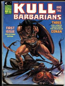Kull and the Barbarians #1 1975-Marvel magazine Sword & Socery VF