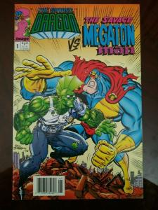Savage Dragon vs Megaton Man #1 (1993) UPC Newsstand Edition HTF