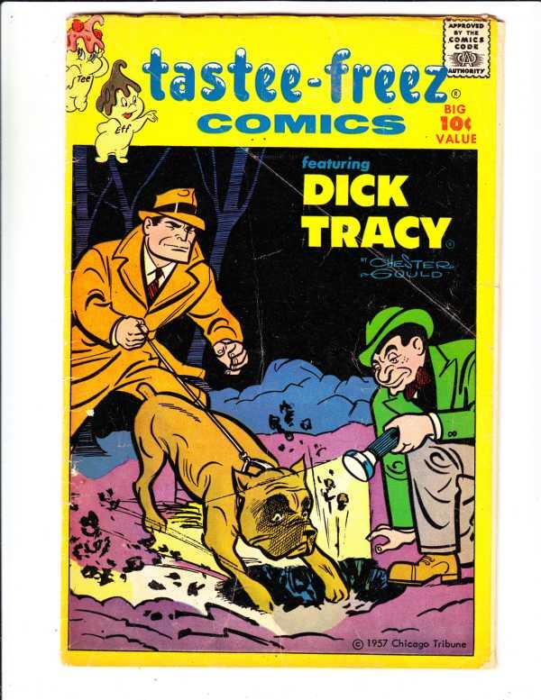 Dick Tracy Tasty Freez Comics Giveaway #6 (Jan-57) VG+ Affordable-Grade Dick ...