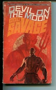 DOC SAVAGE-DEVIL ON THE MOON-#50-ROBESON-G-JAMES BAMA COVER-1ST EDITION G