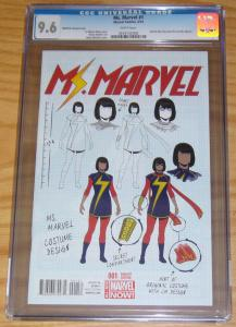 Ms. Marvel #1 CGC 9.6 kamalah khan - 1st print - jamie mckelvie design variant