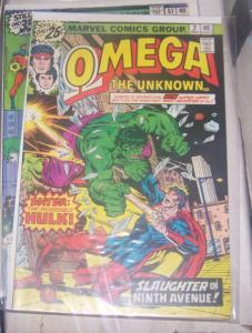 omega the unknown #2 1977 marvel hulk