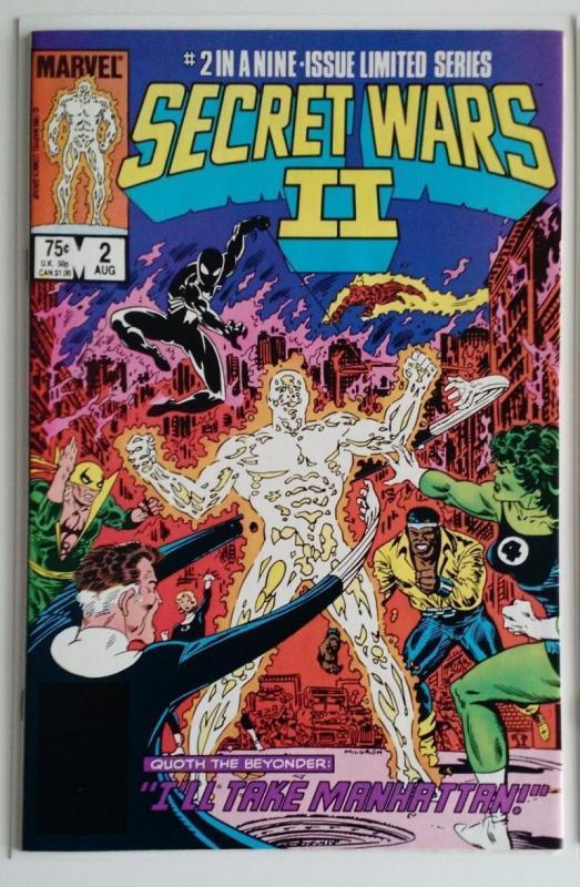SECRET WARS II #2, FN, Spider-man, Cage, Beyonder, 1985, more Marvel in store