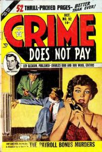 Crime Does Not Pay #92, VG- (Stock photo)