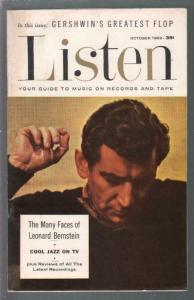 Listen #1 10/1959-1st issue-Leonard bernstein-TV jazz themes-VF