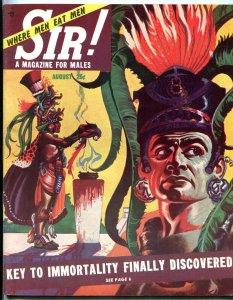 Sir! Magazine August 1953-SEA MONSTERS-CANNIBALISM-AZTECS FN