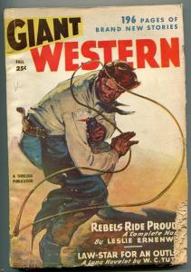 GIANT WESTERN FALL 1947-1ST ISSUE-BILLY THE KID-LESLIE ROSS-W L TUTTLE-fr