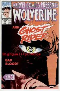 MARVEL COMICS PRESENTS #64, NM, Wolverine, Ghost Rider, more MCP in store