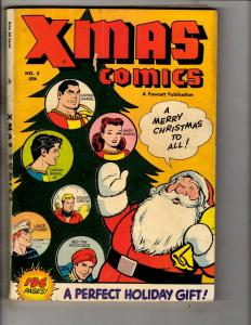 X-Mas Comics # 5 FN/VF Fawcett Golden Age Comic Book Captain Marvel Santa J314