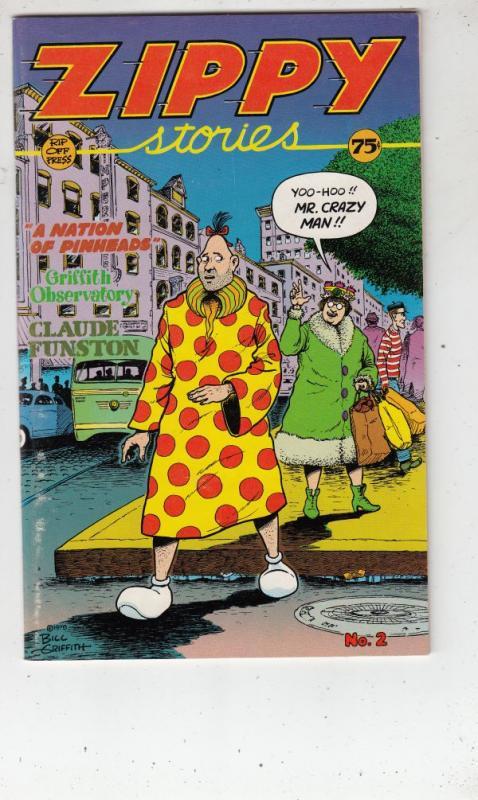Zippy Stories #2 (Jan-83) VF High-Grade Zippy The Pinhead Boy