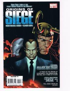 Origins Of Siege # 1 One-Shot VF Marvel Comic Books Avengers Thor Iron Man S93