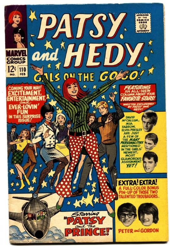 PATSY AND HEDY-#110-comic book 1967-PAPER DOLL-ELVIS-MIA FARROW-