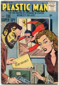 Plastic Man #59 1956- Jack Cole- Mirror cover VG
