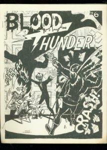 BLOOD AND THUNDER -RARE COMIC BOOK FANZINE #6-1967- FN