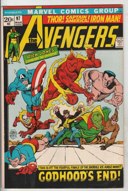 Avengers, The #97 (Mar-72) VF/NM High-Grade Avengers