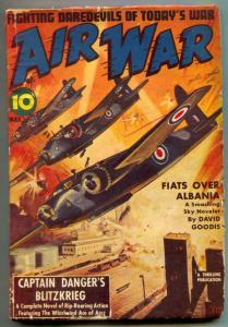Air War Pulp March 1942- Captain Danger Blitzkrieg VG