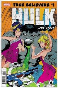 True Believers Hulk Joe Fixit #1 Rep Incredible Hulk #347 (Marvel, 2019) NM