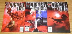 Night & Fog #1-3 VF/NM complete series - government accident creates monsters 2