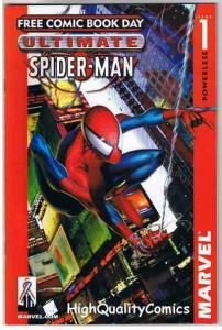 ULTIMATE SPIDER-MAN #1, NM, FCBD, 2002, Movie, Powerless, more in our store