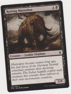 Magic the Gathering: Khans of Tarkir - Rotting Mastodon