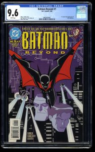 Batman Beyond #1 CGC NM+ 9.6 White Pages 1st Terry McGinnis!