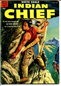 Indian Chief  #18 1955-Dell-Indian stories-White Eagle-VG