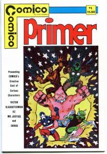 COMICO PRIMER #1, VF/NM, Slaughterman, Az, Skrog, 1982, more Indies in store