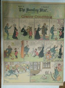 Granny Goodthing Sunday Page by Follett  from 3/27/1910 Full Page Size!