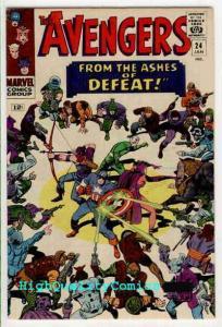AVENGERS 24, VF/NM, Jack Kirby, Thor, Iron Man, Captain America, Don Heck