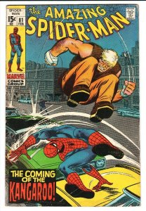 Amazing Spider-Man #81 1970  Kangaroo- Marvel Comics VG