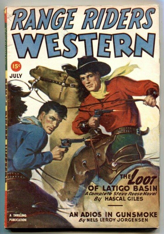 Range Riders Western Pulp July 1947- Loot of Latigo Basin