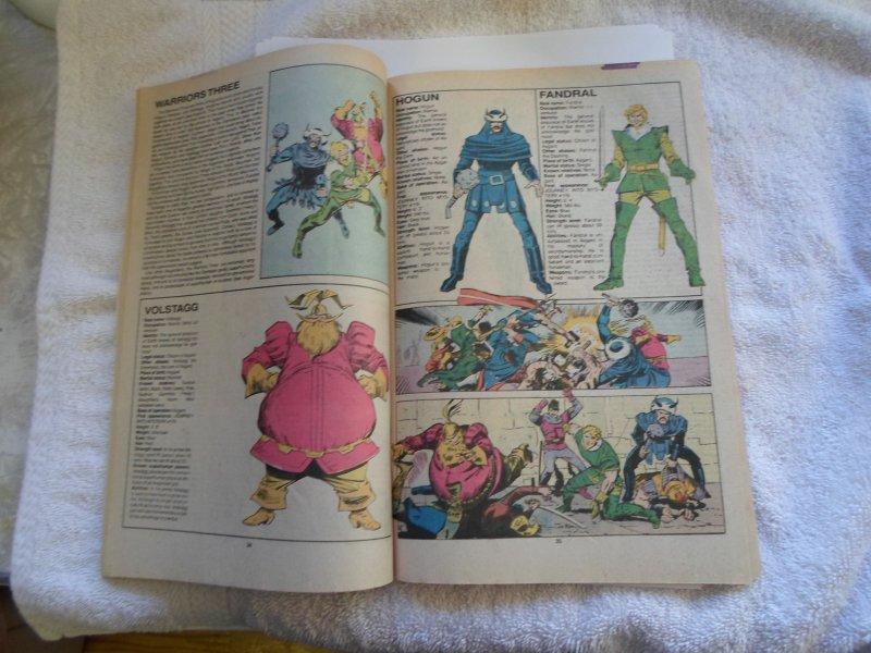 1987 MARVEL 25TH ANN, THE OFFICAL HANDBOOK OF THE MARVEL UNIVERSE # 14
