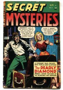 Secret Mysteries #17 1954-Merit Pubs-Myron Fass-Santa Claus-terror-occult-G
