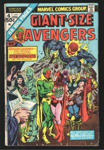 AVENGERS GS#4 VG/F WEDDING VISION and SCARLET WITCH!