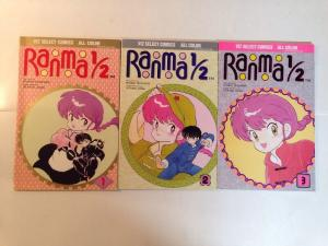 Ranma 1/2 1-3 Near Mint Lot Set Run