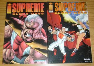 Supreme: Glory Days #1-2 VF/NM complete series - rob liefeld - image comics set