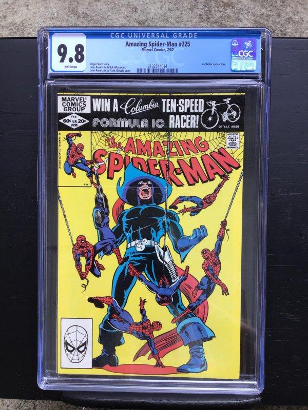 Amazing Spider-man 225 Cgc 9.8 White Pages Bronze Age Marvel