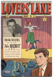 LOVERS' LANE #39-1954-FRANK SINATRA PHOTO COVER & STORY-BLACKMAIL-PETTING
