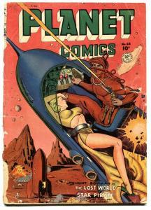 Planet Comics #65 1951- Fiction House Golden Age- Rocket Headlights cover P