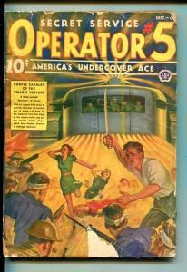 OPERATOR #5 09/1939-POPULAR-WEIRD MENACE-YELLOW INVADER-good/vg